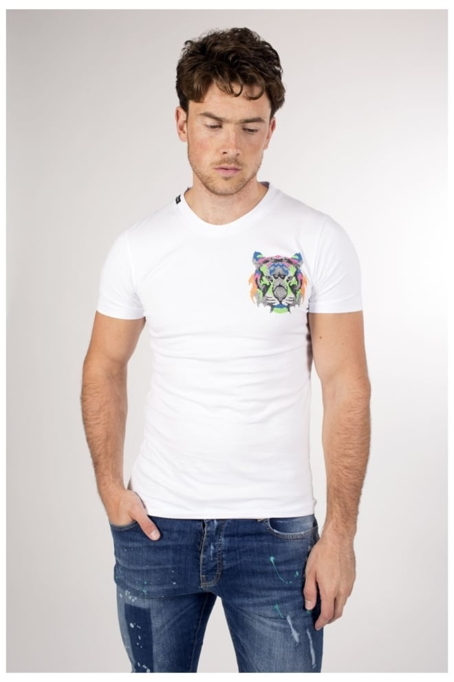 My brand neon logo tiger t-shirt - My Brand