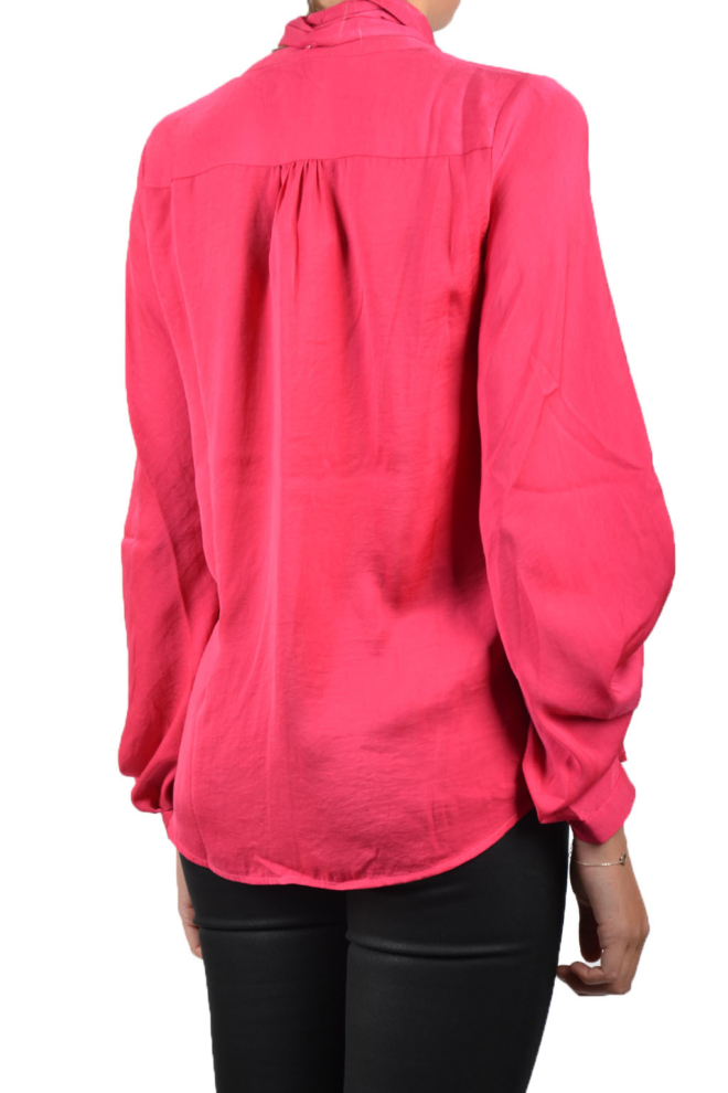 10 feet feminine blouse with detachable embroidery fuchsia - 10 Feet