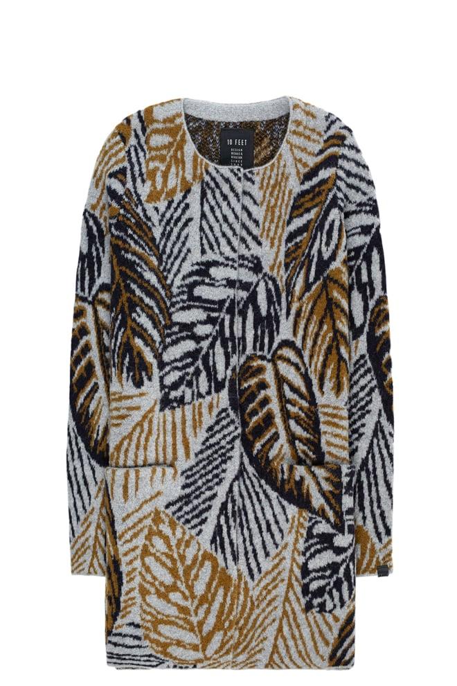 10 feet vest met botanische jacquard - 10 Feet