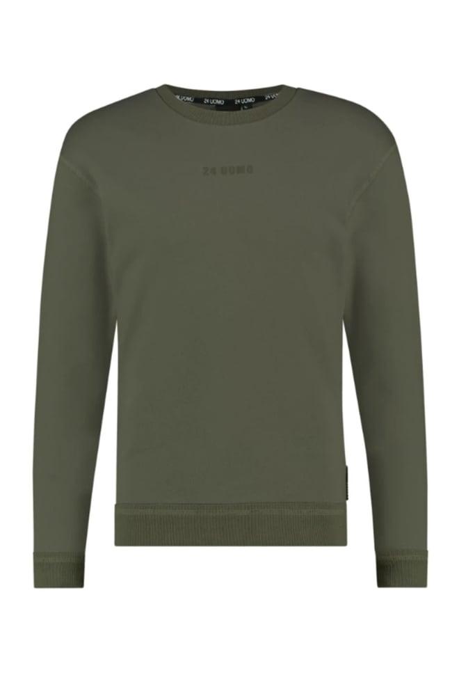 24uomo my46 heren sweater groen - 24 Uomo