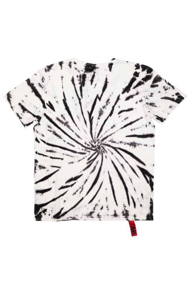 Ah6 tattoo bird t-shirt tie dye zwart - Ah6