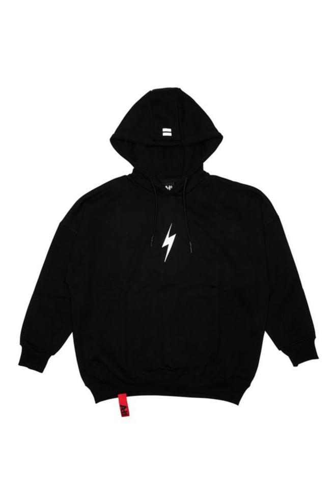 Ah6 rockstar hoodie zwart - Ah6