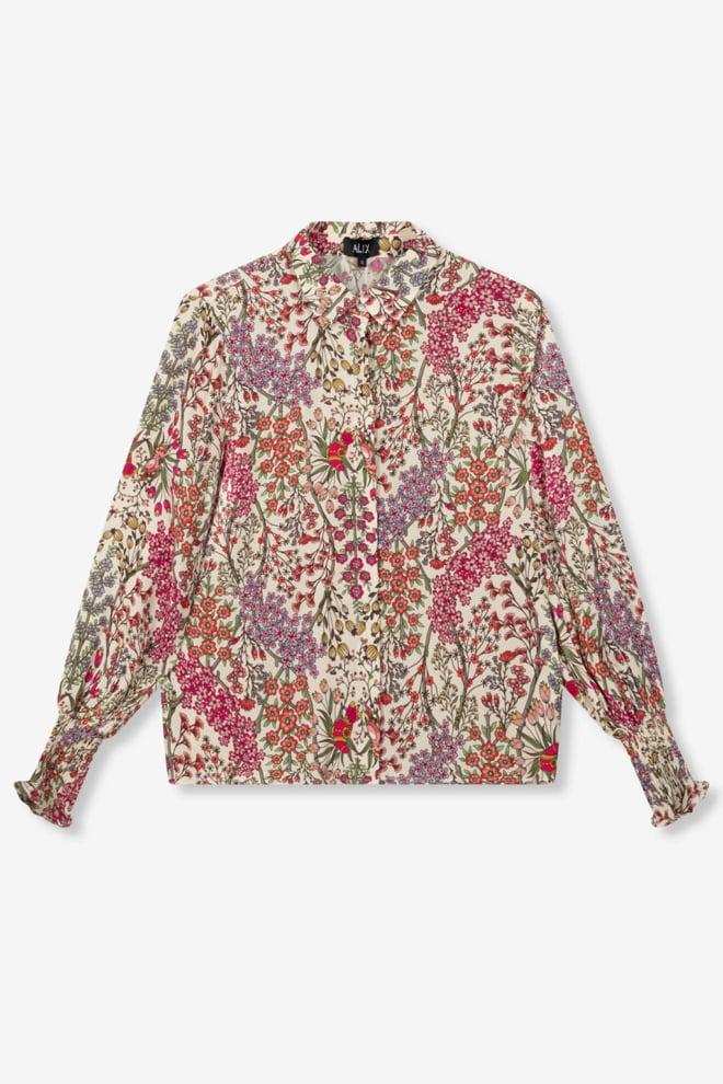 Alix the label ladies woven floral blouse - Alix The Label