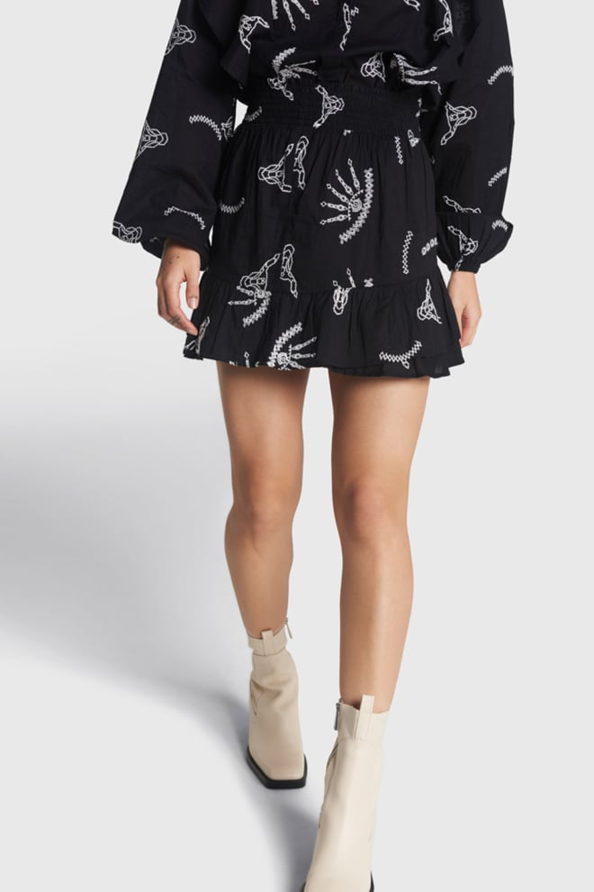 Alix the label broderie skirt black - Alix The Label
