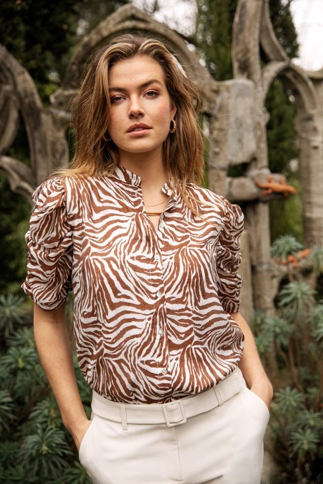 Aaiko taciana zebra blouse - Aaiko