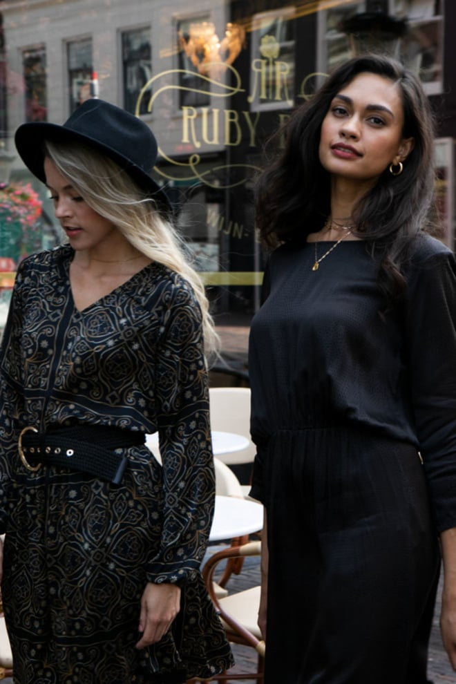 Aaiko firely chain jurk zwart - Aaiko