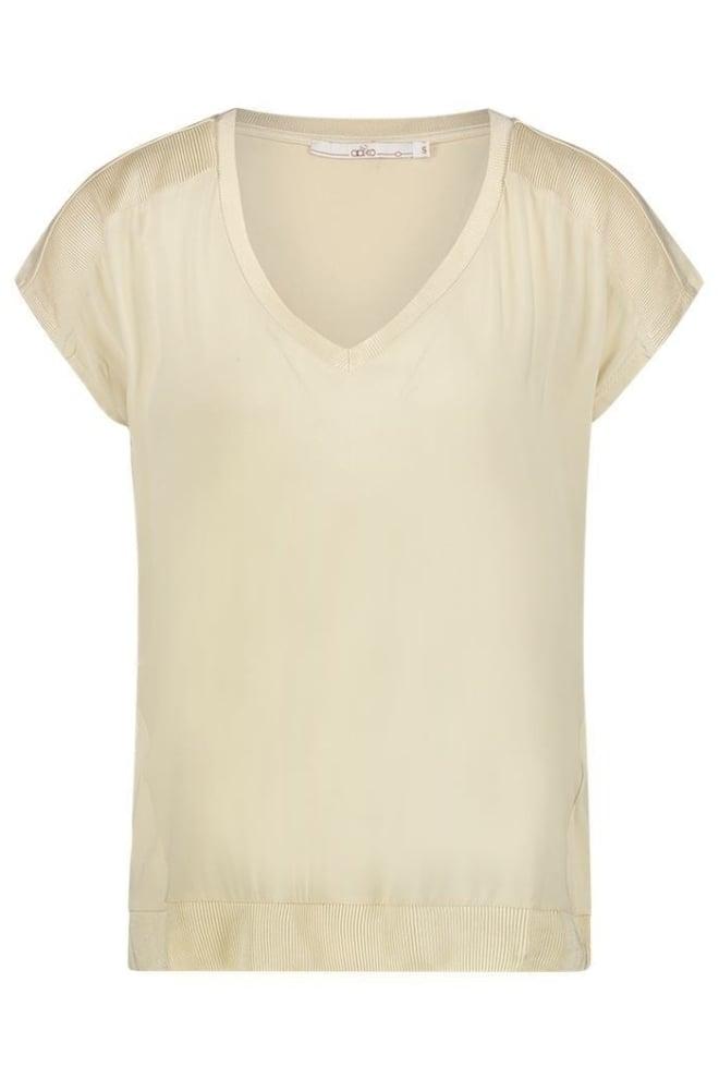 Aaiko jena t-shirt beige - Aaiko