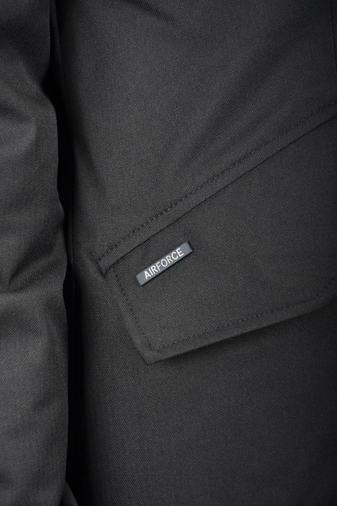 Airforce 2-pocket herringbone jacket true black - Airforce