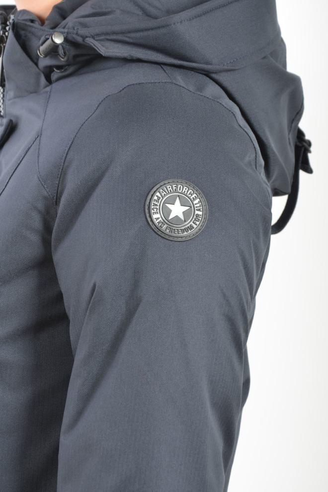 Airforce slim fit herringbone dark navy/blue - Airforce