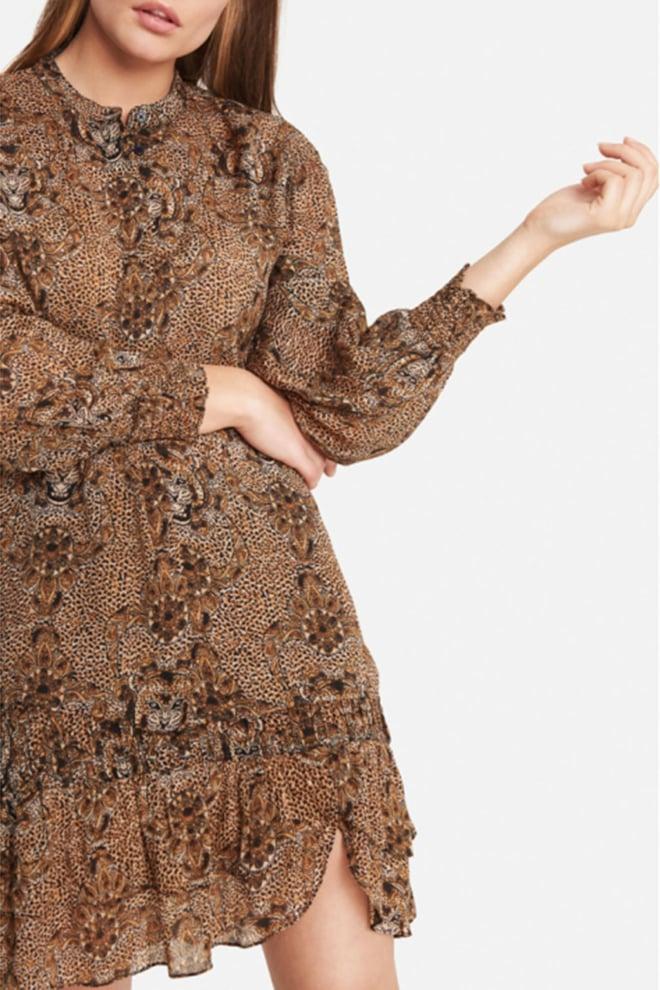 Alix the label animal crepe blouse bruin - Alix The Label