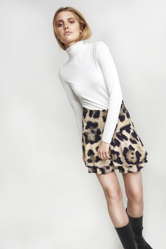 Alix the label animal skirt bruin - Alix The Label