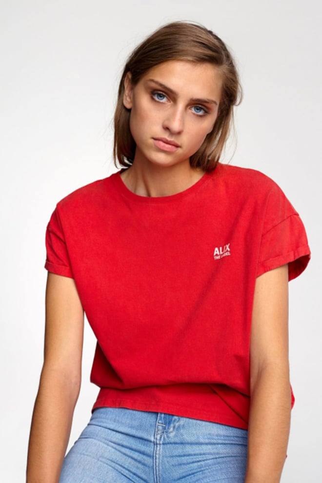 Alix the label on tour t-shirt rood - Alix The Label