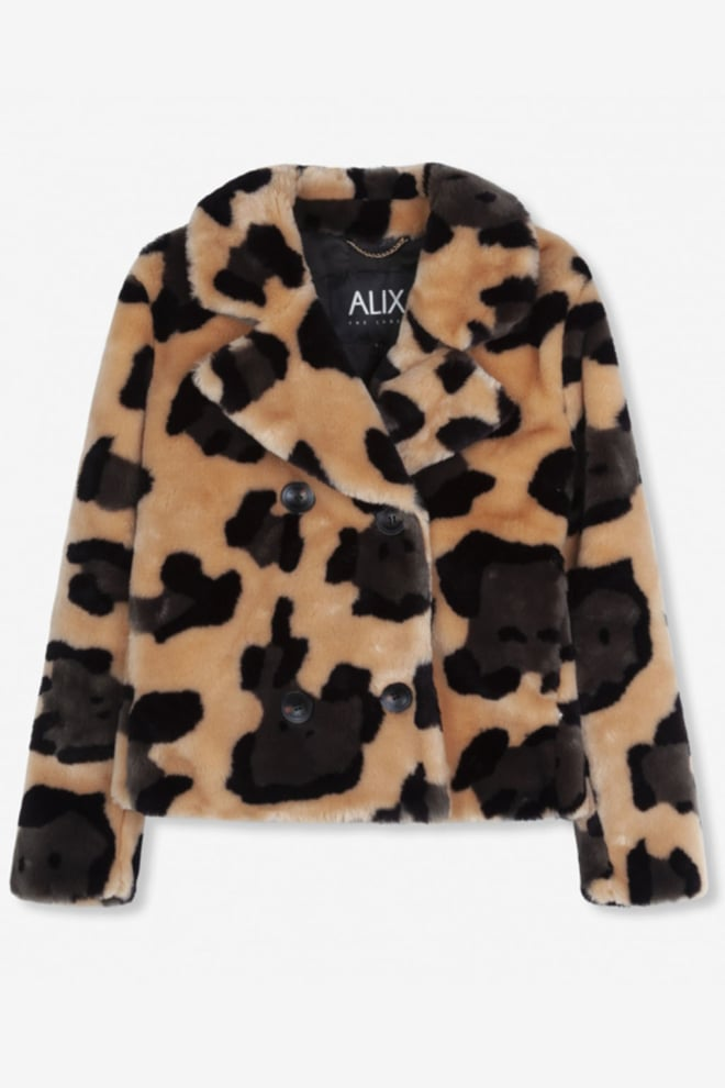 Alix the label faux bontjas luipaardprint - Alix The Label