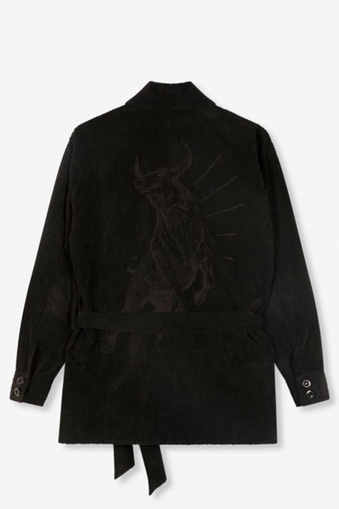 Alix the label ribcord blouse zwart - Alix The Label