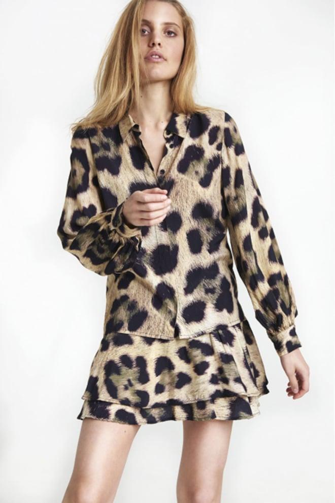 Alix the label animal blouse bruin - Alix The Label