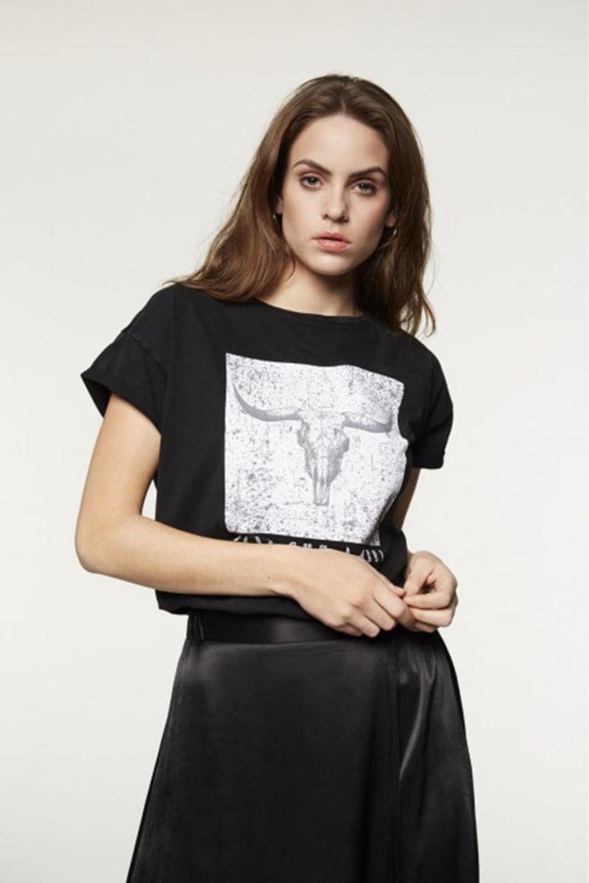 Alix the label bull t-shirt zwart - Alix The Label