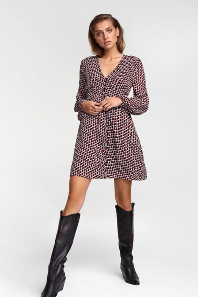 Alix the label graphic star chiffon dress - Alix The Label