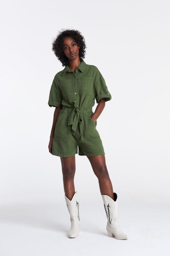 Alix the label cotton slub jumpsuit - Alix The Label