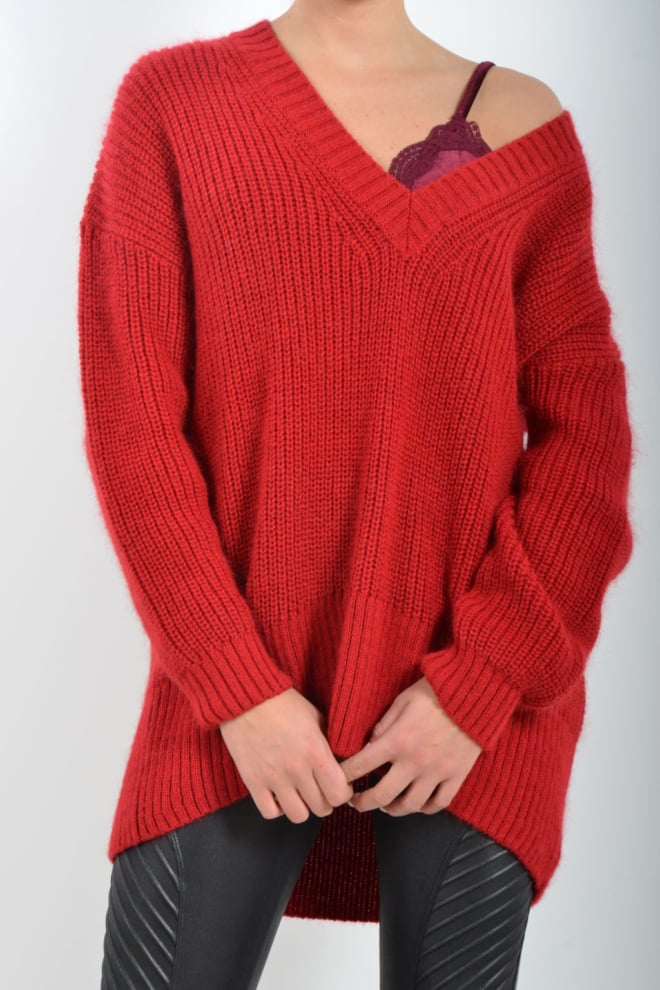 Alix the label soft knit pullover red - Alix The Label