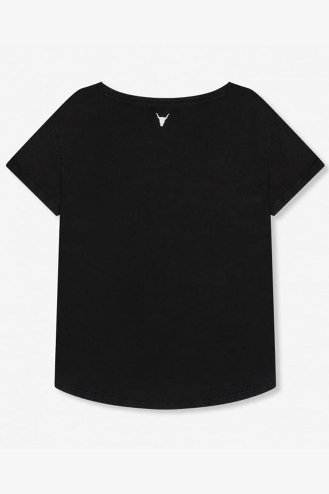 Alix the label v-neck t-shirt zwart - Alix The Label