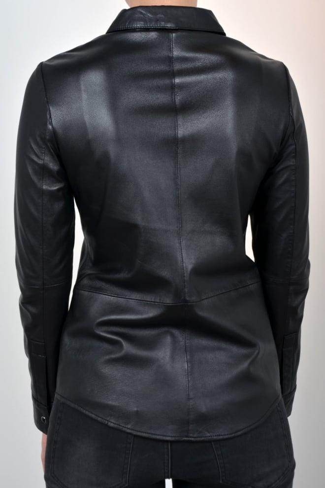 Alter ego audrey leren blouse zwart - Alter Ego