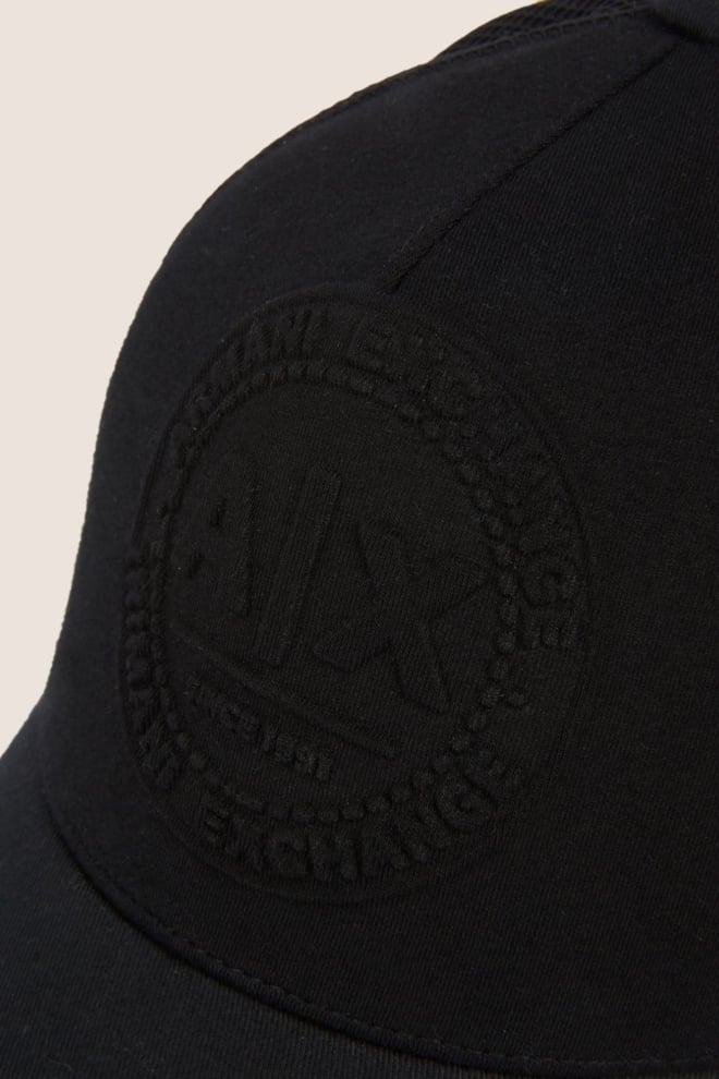 Armani exchange embossed logo mesh paneled hat nero - Armani Exchange