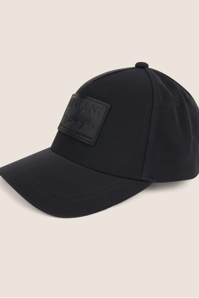 Armani exchange leather logo patch hat navy - Armani Exchange