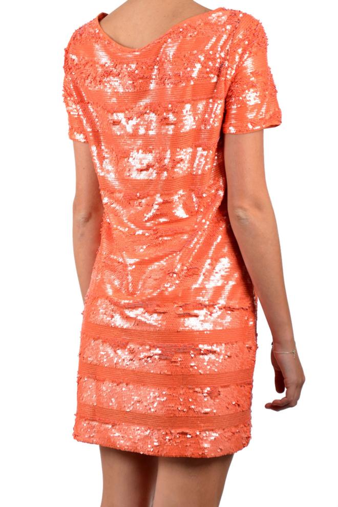 Armani woman woven vestito orange dress - Armani