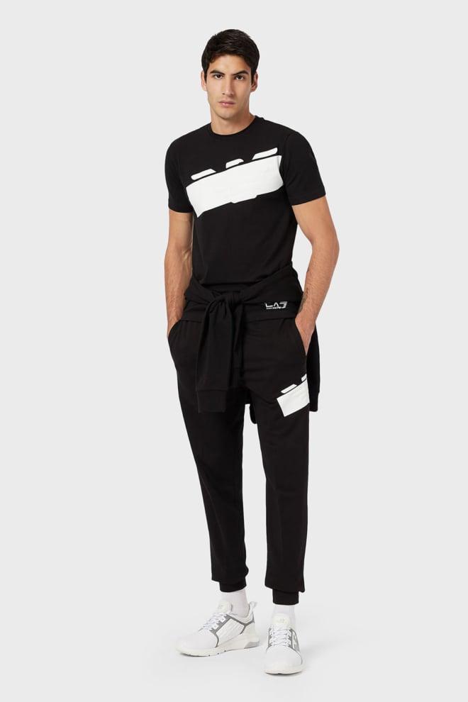 Armani ea7 oversized logo t-shirt zwart - Armani Ea7