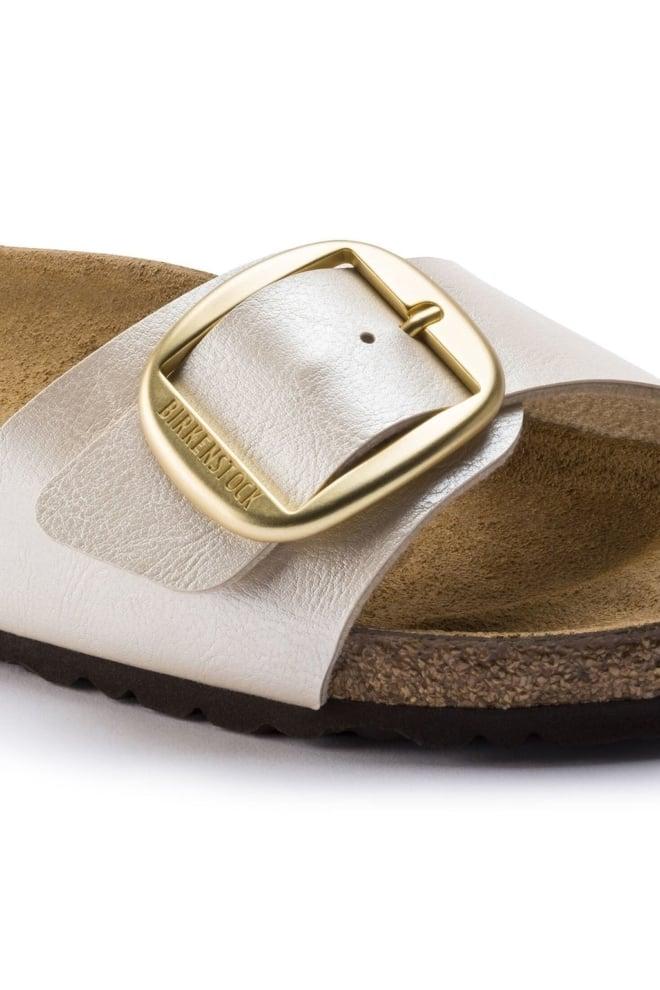 Birkenstock madrid big buckle sandaal parelwit smal - Birkenstock