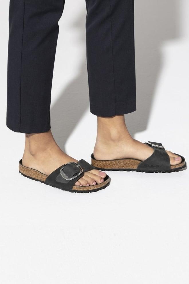 Birkenstock madrid big buckle sandaal smal zwart - Birkenstock