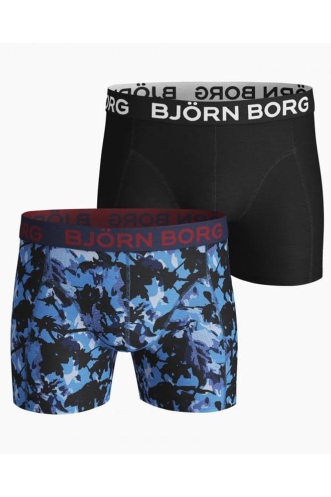 Bjorn borg 2-pack branch boxers zwart/blauw - Björn Borg