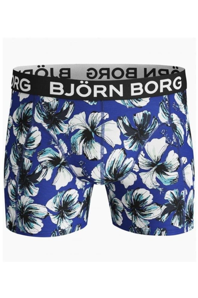 Bjorn borg 2-pack la hibiskus boxer zwart/blauw - Björn Borg