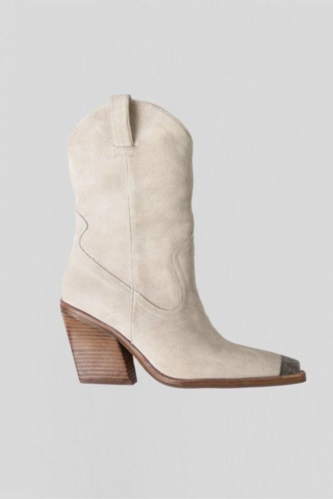 Bronx new-kole metal toe laarzen beige - Bronx Shoes