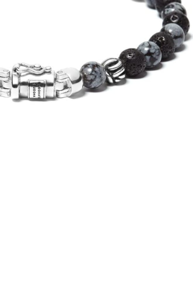 Buddha to buddha spirit bead mini snowflake armband grijs - Buddha To Buddha