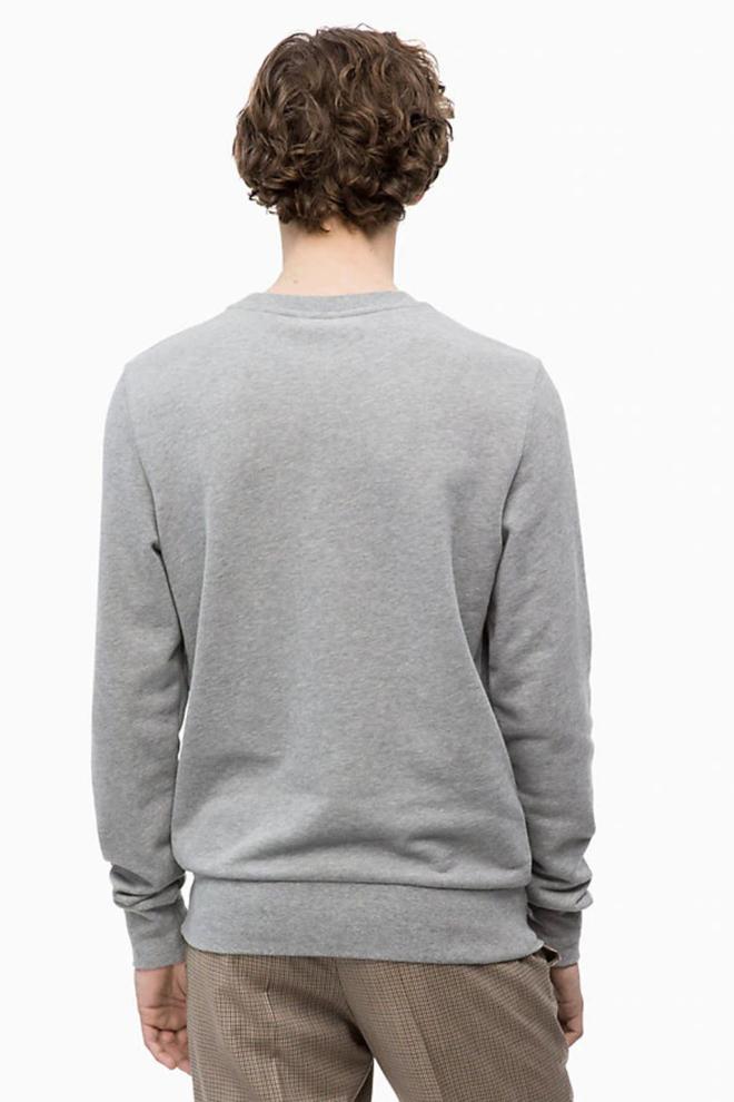 Calvin klein french terry c-badge sweater mid grey heather - Calvin Klein