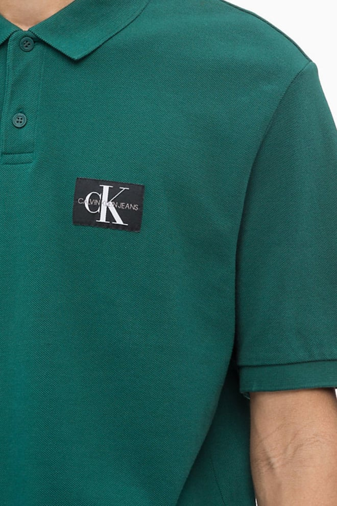Calvin klein monogram logo polo june bug - Calvin Klein