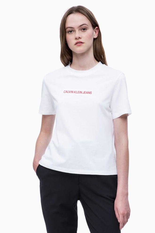 Calvin klein cropped t-shirt wit - Calvin Klein