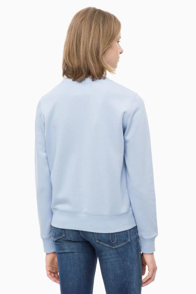 Calvin klein dames sweatshirt met logo blauw - Calvin Klein