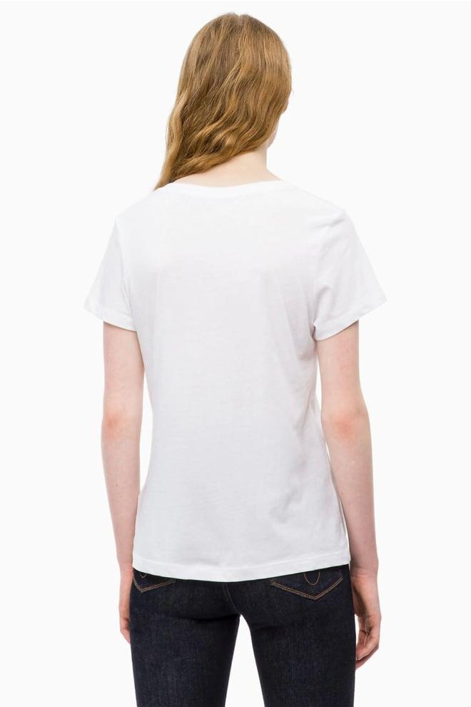 Calvin klein dames t-shirt slim fit wit - Calvin Klein