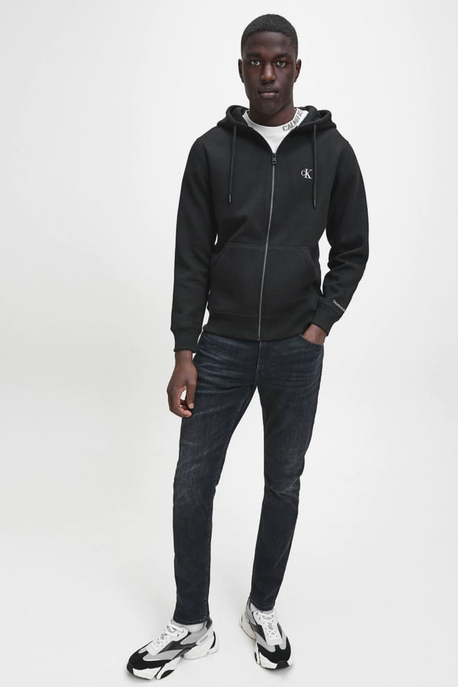 Calvin klein jeans fleece vest zwart - Calvin Klein Jeans