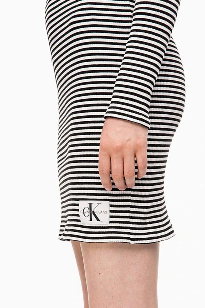 Calvin klein gestreepte jurk zwart wit - Calvin Klein