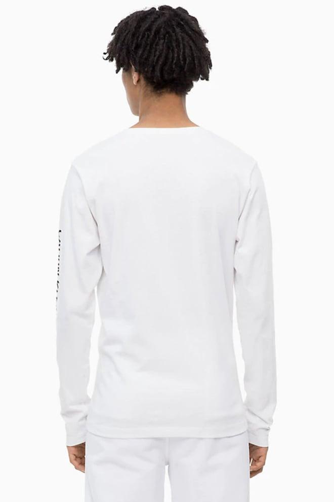 Calvin klein institutional shirt ls bright white - Calvin Klein