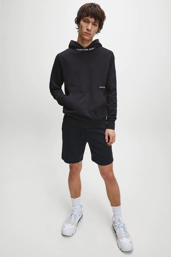 Calvin klein korte joggingbroek met logotape zwart - Calvin Klein