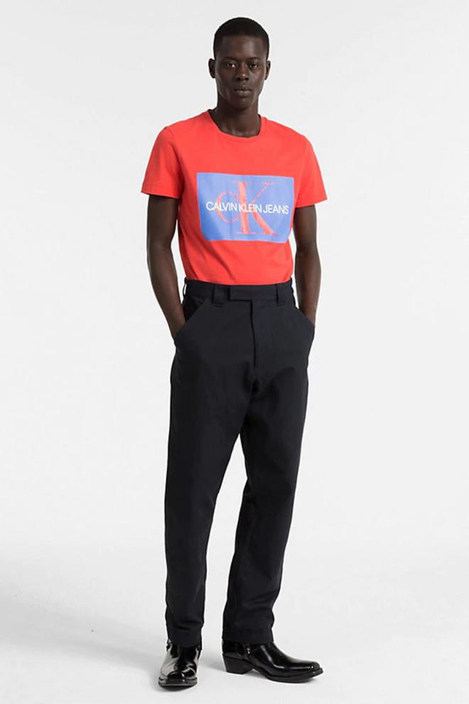 Calvin klein logo shirt rood - Calvin Klein