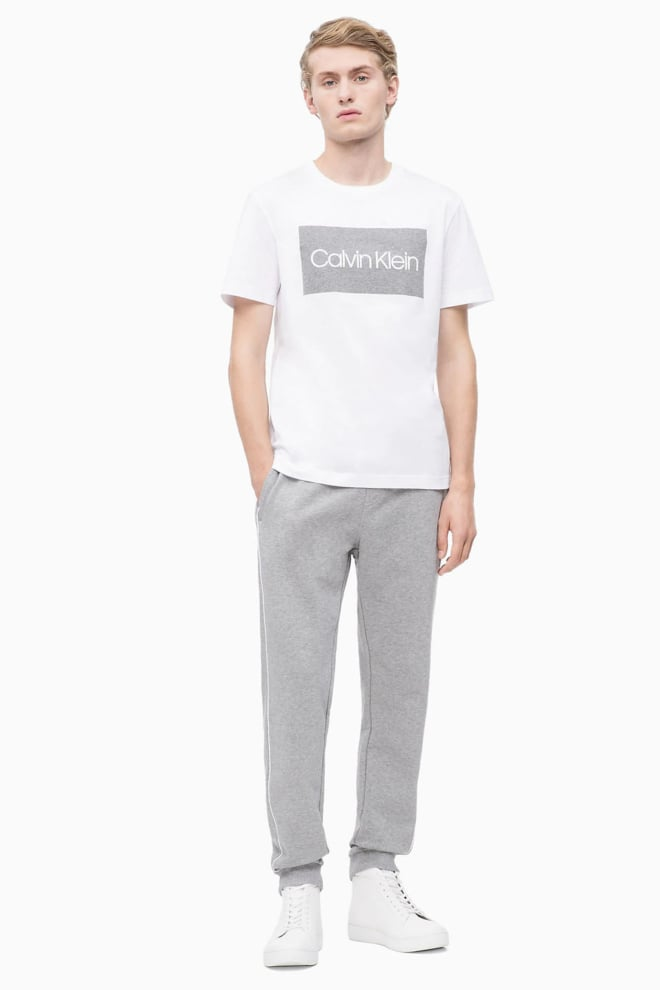 Calvin klein logo shirt wit - Calvin Klein