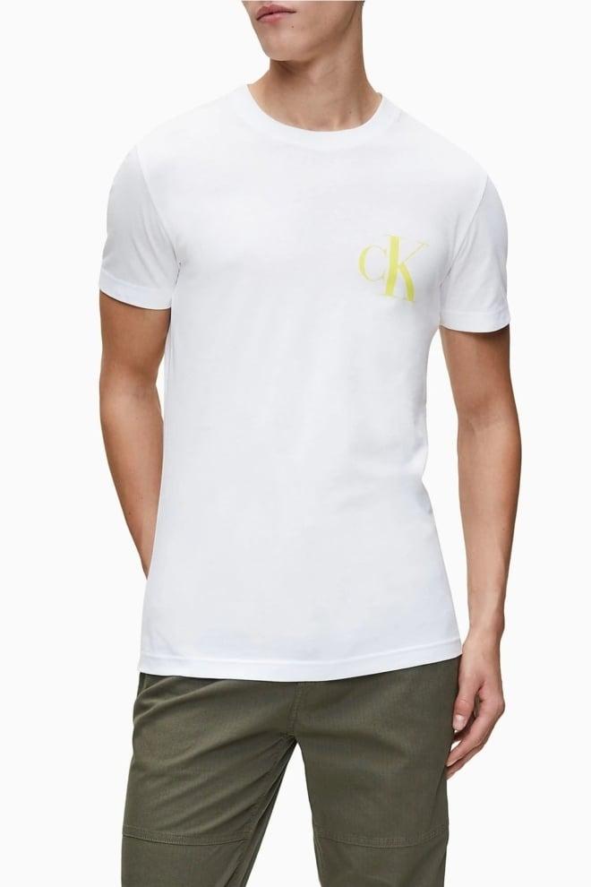 Calvin klein back logo t-shirt wit - Calvin Klein