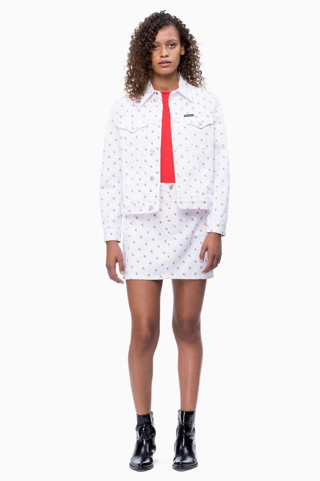 Calvin klein minirok wit/rood - Calvin Klein