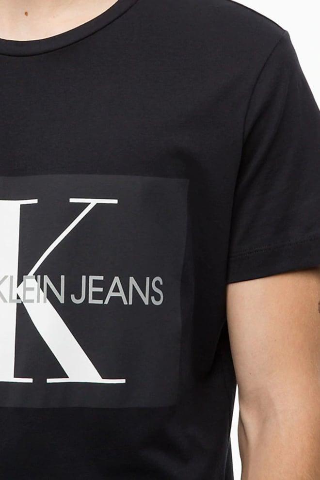 Calvin klein monogram t-shirt zwart - Calvin Klein