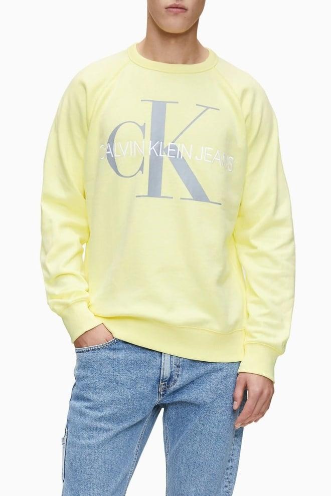 Calvin klein monogram sweater geel - Calvin Klein